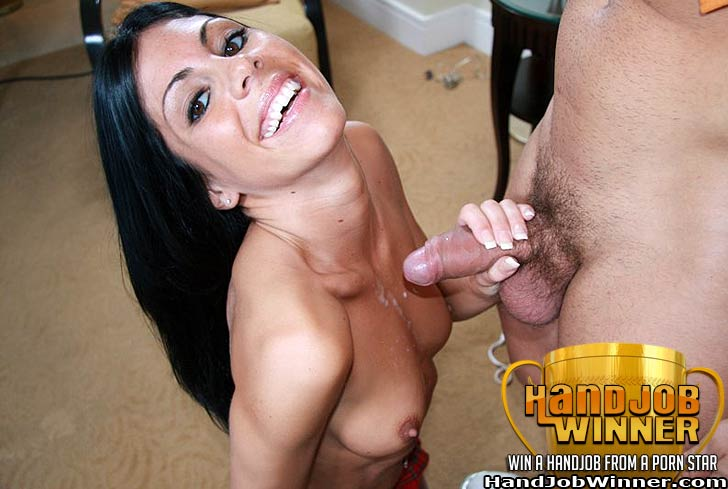 Eva Ellington Giving a Handjob to Lucky Winner Johnny